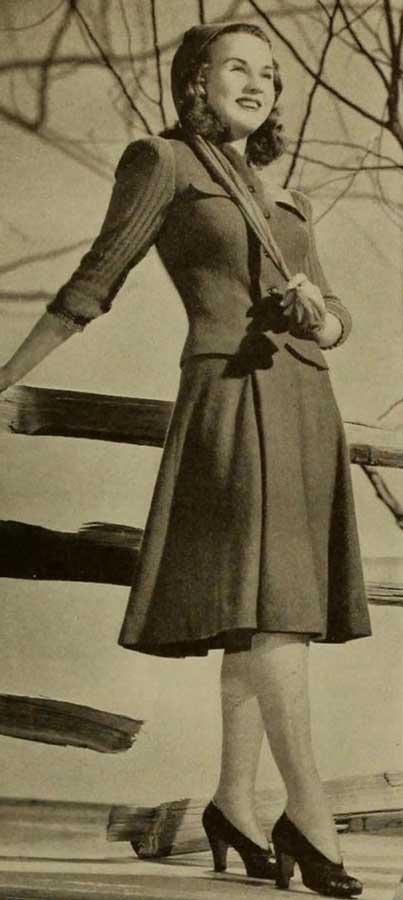 1940s Day Wear: Fashion In 1940 - Autumn Wardrobe Of The Stars.