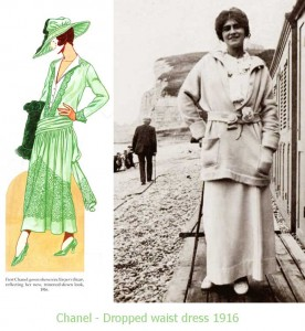 Coco-Chanel-1916-Fashion-dropped-waist-dress