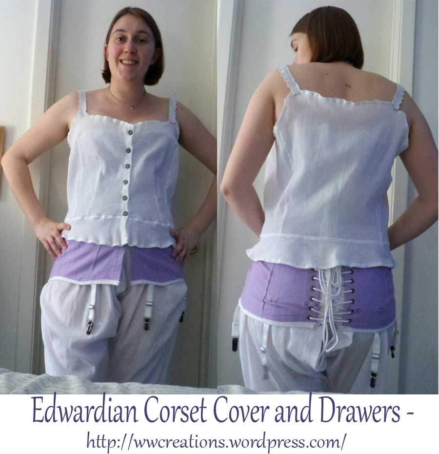 Corset cover and drawers - Two-piece combination underwear