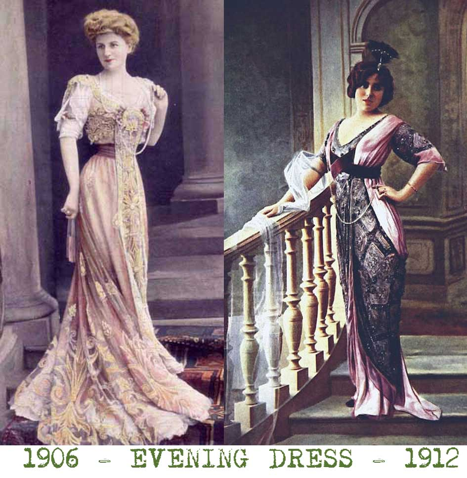 6a730201547 ... fashions were displayed by the social elite. Edwardian-Dress ---1905-compared-to-1912