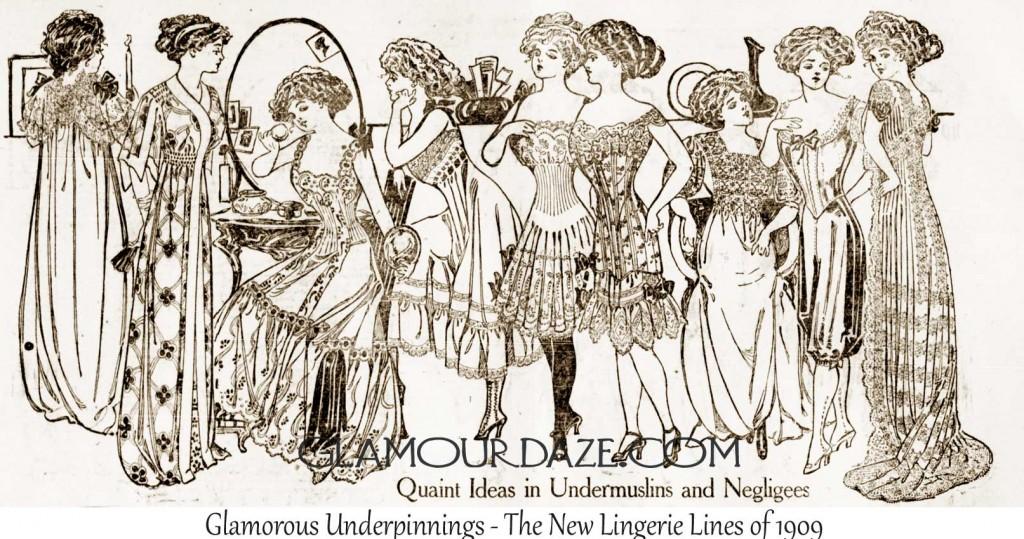 Edwardian-Lingerie-Fashions---1909---Glamourdaze