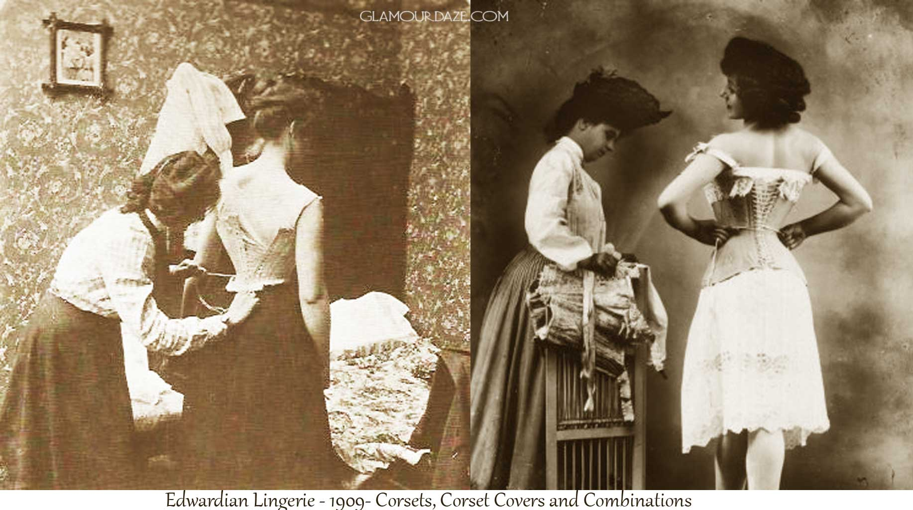 Why did women wear tight bodice in the 1900s?