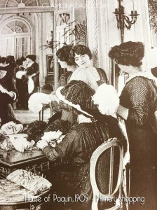 House-of-Paquin-1909---Millinery-shopping