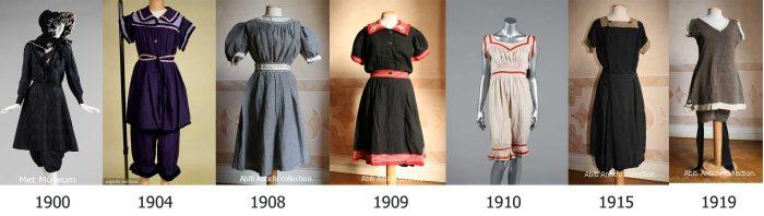 Swimwear-History---timeline---1900-to-1919