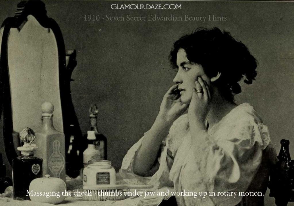 1910---Seven-Secret-Edwardian-Beauty-Hints--cheek-massage