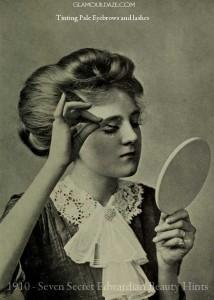 1910---Seven-Secret-Edwardian-Beauty-Hints---eyebrow-tinting