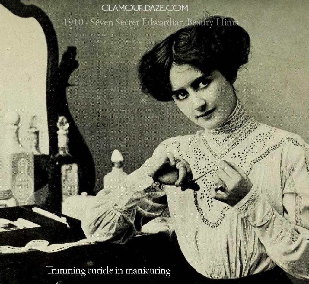 1910---Seven-Secret-Edwardian-Beauty-Hints---manicure
