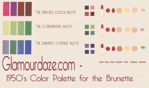 Glamourdaze-1950s-color-palette--brunettes