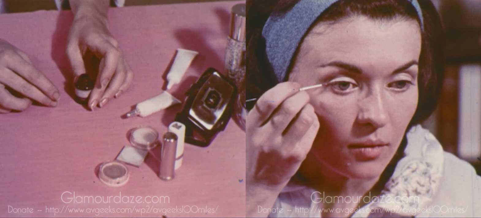 Vintage makeup video tutorial from 1969 glamourdaze vintage 1960s makeup tutorial film17 eyeliner baditri Image collections
