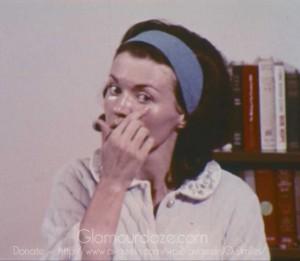 Vintage-1960's-Makeup-Tutorial-Film6---foundation--dark-circles