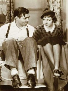 Claudette-Colbert and Clark Gable in--It-happened-one-night