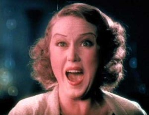 "Fay Wray in standard ""terrified"" mode - Mystery of the Wax Museum 1933"