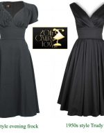 1940s-Evening-Dress-and-1950s-Trudy-dress---20th-century-foxy
