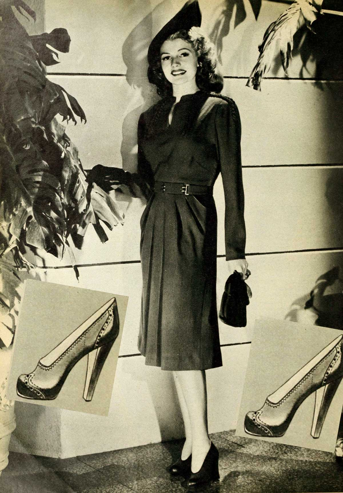 1940s Winter Fashion – Rita Hayworth – Dec 1942