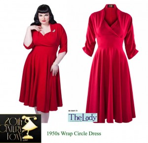 1950s-Wrap-Circle-Dress---red---20th-Century-Foxy--model
