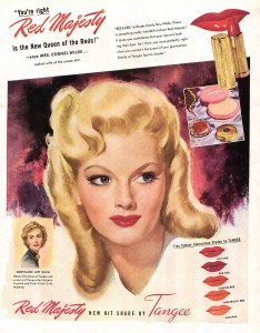 Tangee Red Lipsticks 1940s
