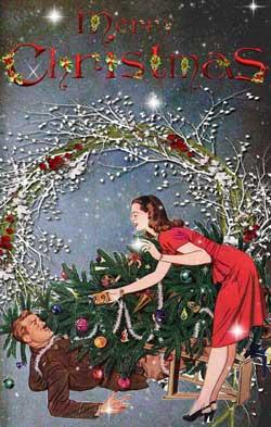 vintage christmas cards glamourdaze8
