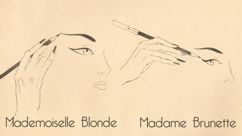 1950s eye makeup - blonde or brunette