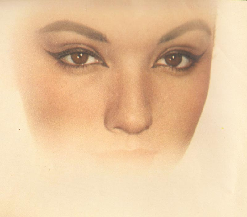 1950's eye makeup for blonde hair