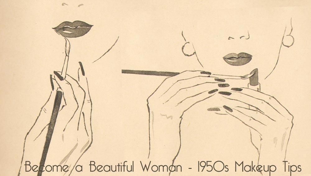 1950s makeup tips - lipstick