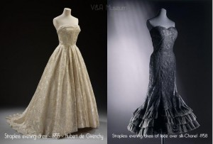 1950s-evening-dresses---Chanel-and-Givenchy