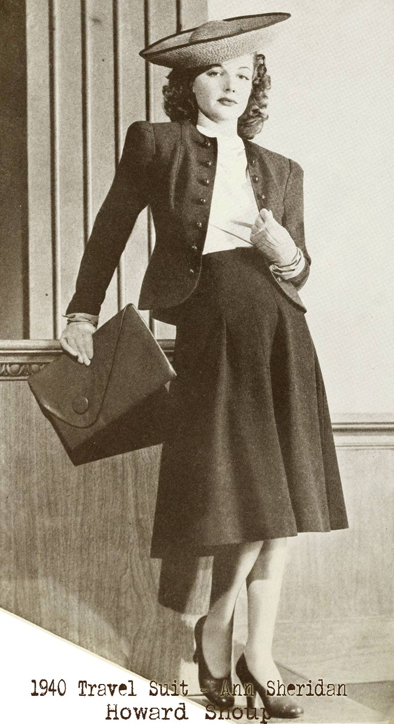 1940 Fashion Sophisticated Day Suits Glamour Daze
