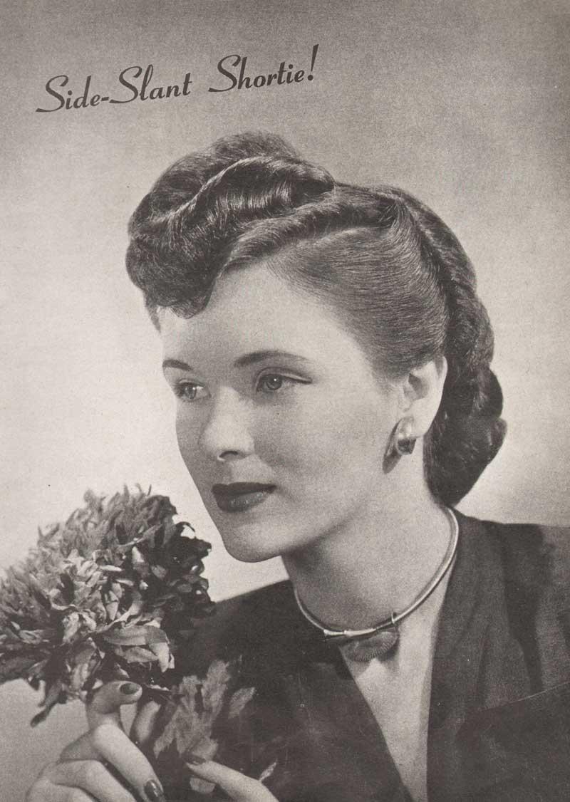 Miraculous 194039S Hairstyles The Sidesweep Craze 1945 Glamourdaze Short Hairstyles For Black Women Fulllsitofus
