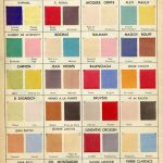 1950s Fashion –  Actual Color Swatches of Dior and Balenciaga