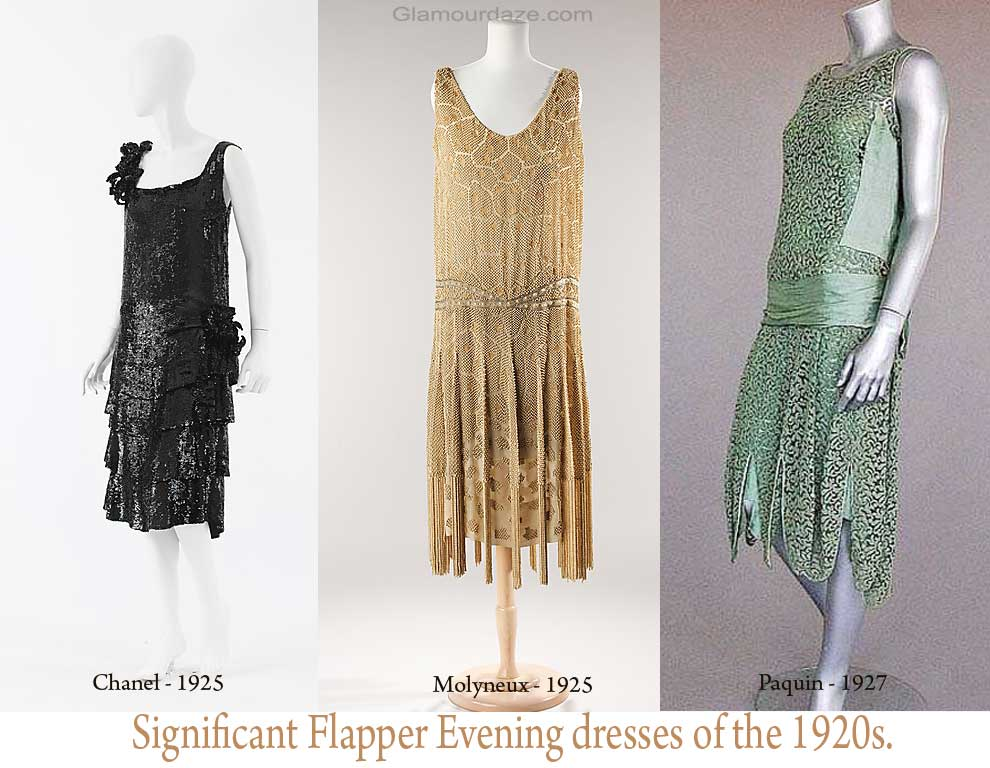 1920s fashion-Significant Flapper Evening dresses-of-the-1920s.