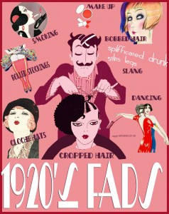 1920s fashion fads - infographic