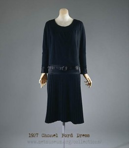 1920s fashion-1927-Chanel's Little Black Ford Dress