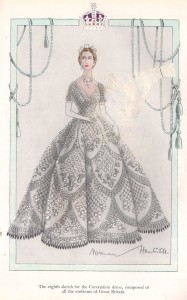 Norman-Hartnell---1953-Coronation-Dress--Eighth-sketch