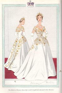 Norman-Hartnell---1953-Coronation-Dress--Maids-of-Honour
