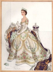 Norman-Hartnell---1953-Coronation-Dress--final-sketch