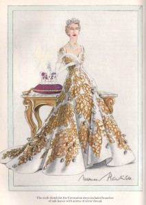 Norman-Hartnell---1953-Coronation-Dress--sixth-sketch