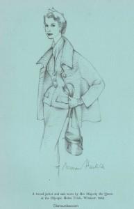 Norman-Hartnell---Queen-Elizabeth-11-tweed-suit-1954