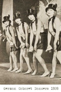 1920s fashion - german-cabaret-dancers-1928