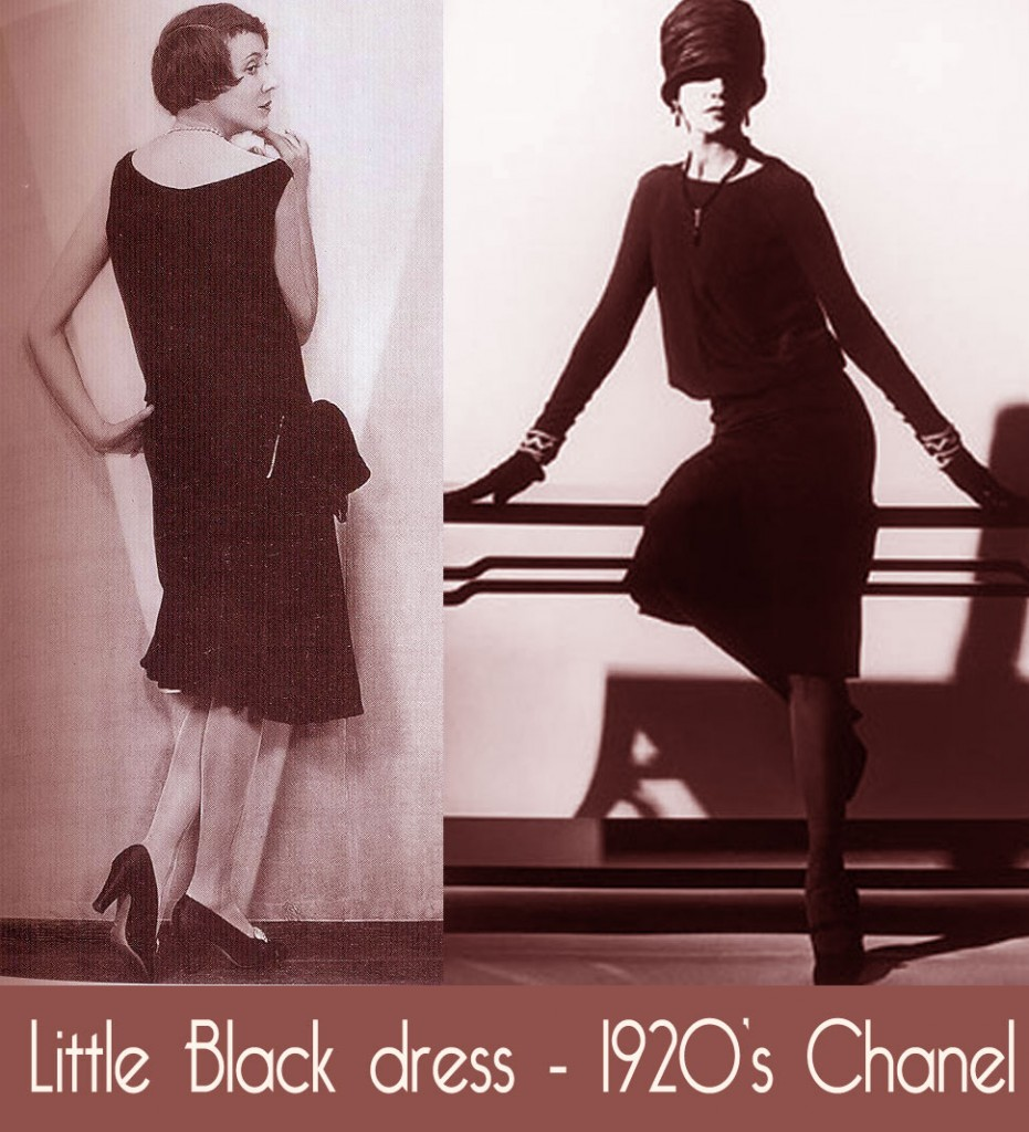 1920s fashion - the little black dress by Coco Chanel