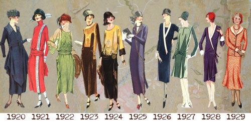1920s fashion -Dresses timeline---day-wear