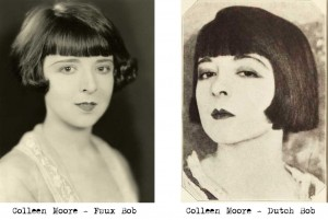 1920s hairstyle - Colleen Moore bobs her hair