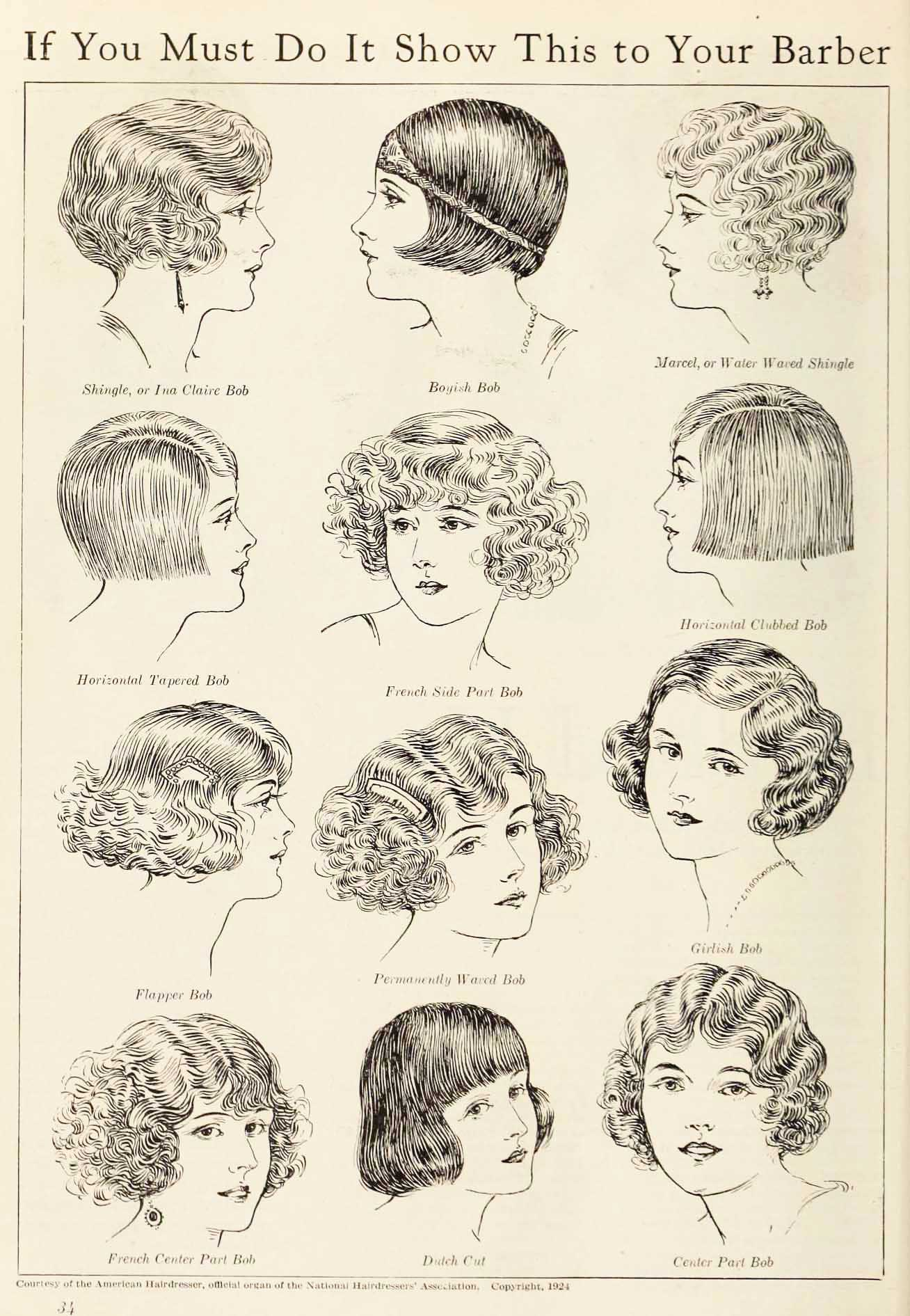 12 classic short bob hair cuts from 1924