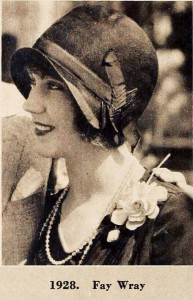 1920s fashion -Cloche-Hat-Timeline---year-1928---Fay-Wray
