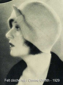 Corrine-Griffith---felt-cloche-hat---1929