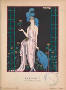 1920s fashion-Gazzette-du-bon-ton---1922---Worth-dress---Georges-Barbier