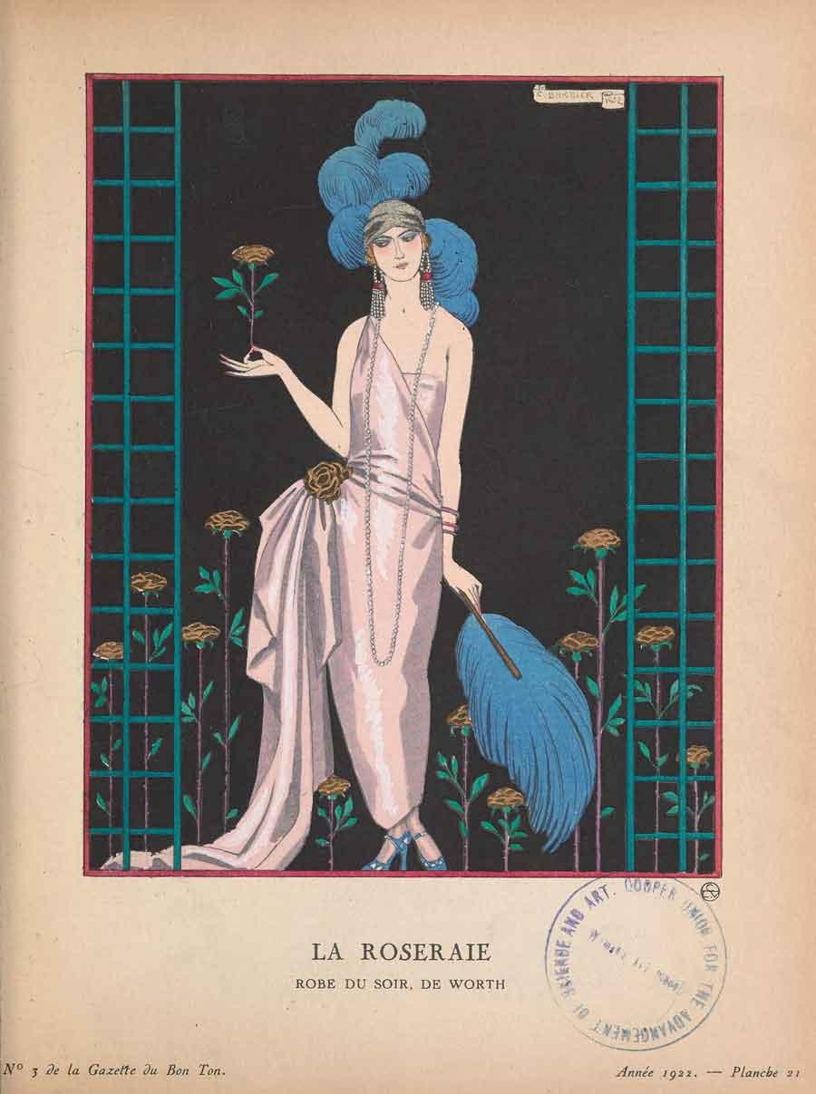 Gazzette-du-bon-ton---1922---Worth-dress---Georges-Barbier
