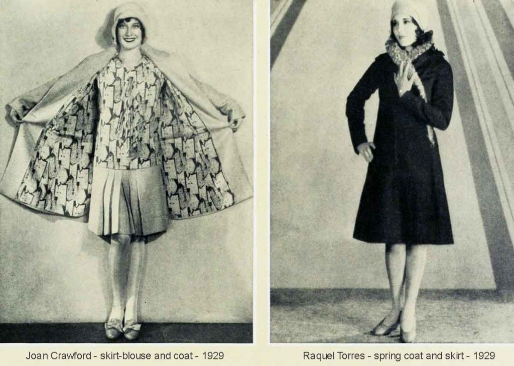 Joan-Crawford-and-Raquel-Torres--skirt---blouse-and-coat