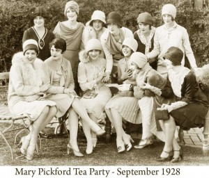 1920s Fashion - Mary-Pickford-Tea-Party - 1928