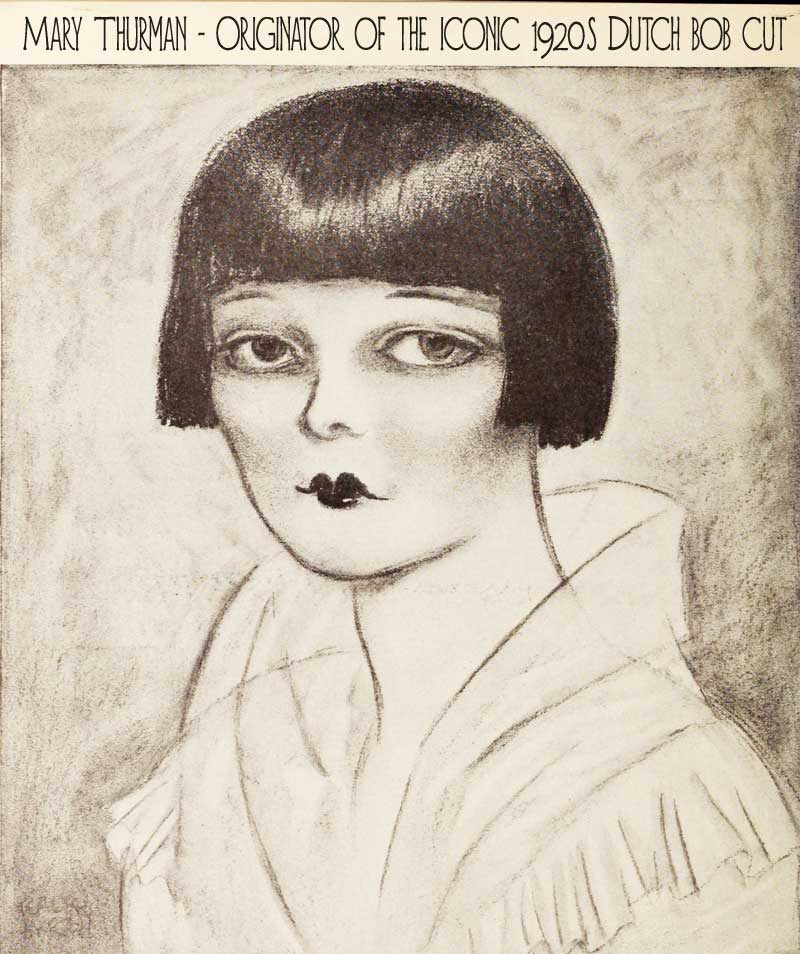 Dutch Bob hair cut - Mary Thurman 1921