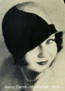Nancy-carroll---fifty-fifty-hat---1929