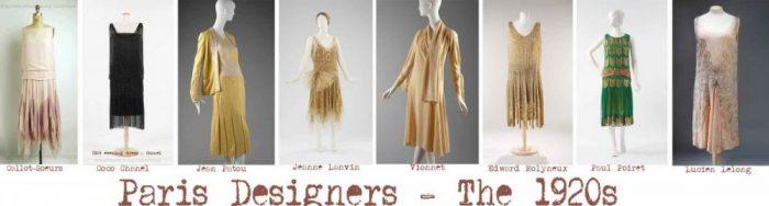 1920's Dresses - Paris Designers - Images © Met Museum